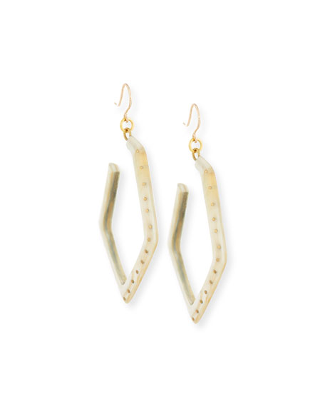 Awali Studded Light Horn Hoop Earrings