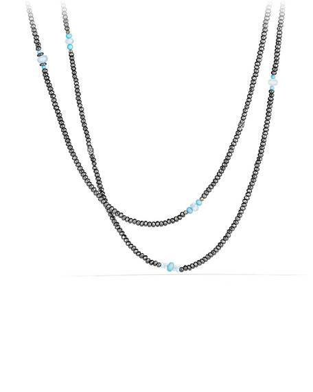 David Yurman Mustique Tweejoux Beaded Long Beaded Necklace,