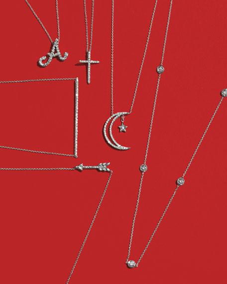 18k Gold Diamond Station Necklace