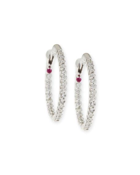 XS Pave Diamond Hoop Earrings