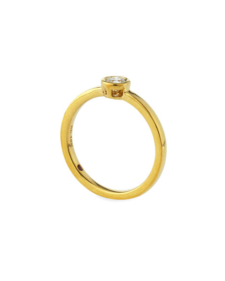 Diamond Solitaire Station Ring