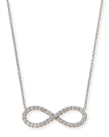 Roberto Coin 18k White Gold Diamond Infinity Necklace
