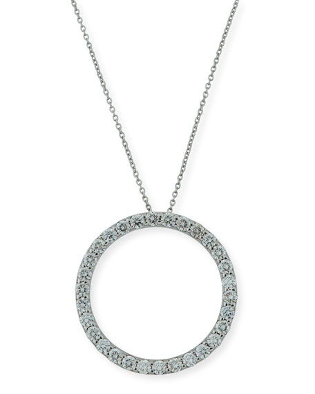 Roberto Coin 18K White Gold & Diamond Circle
