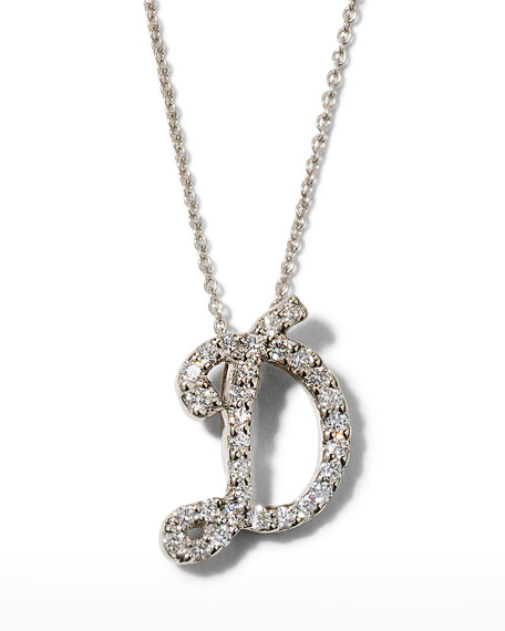 Roberto Coin 1445 SCRIPT INITIAL NECKLACE