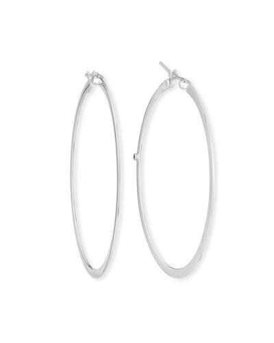 18k Large Flat Hoop Earrings