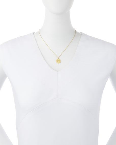 18k Diamond Paw Disc Pendant Necklace