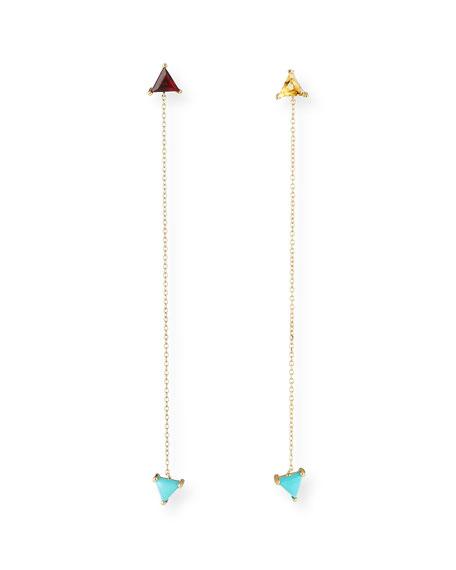 Jennifer Zeuner Glynda Turquoise, Citrine & Garnet Triangle