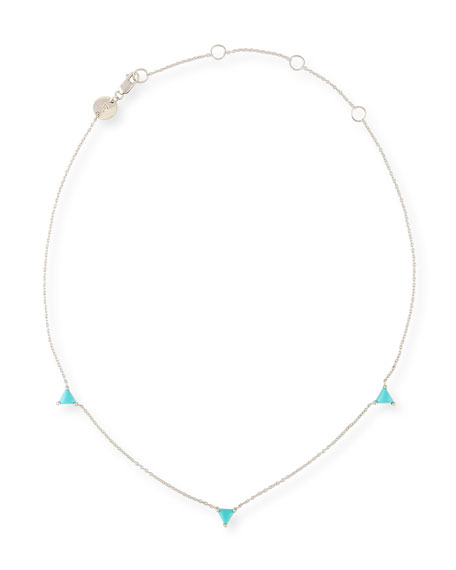 Jennifer Zeuner Koi Turquoise Station Choker Necklace