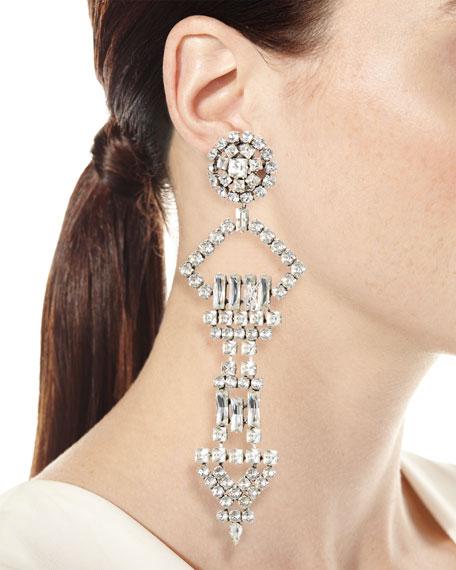Oversized Crystal Smoking Earring