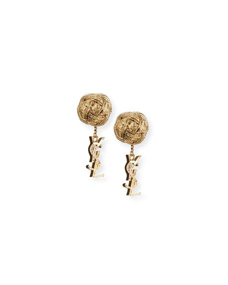 Saint Laurent Monogram Small Drop Earrings