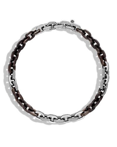 Dot Basic Ebony Link Necklace, 18