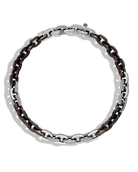 Dot Basic Ebony Link Necklace, 18""