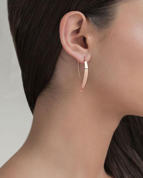 Bond Small Vanity Hooked on Hoop Earrings in 14K Rose Gold