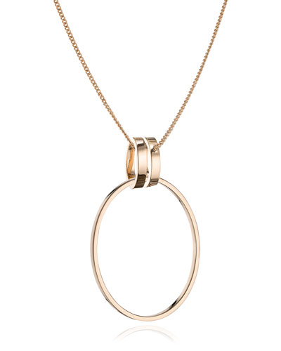 Cassio Open Circle Pendant Necklace