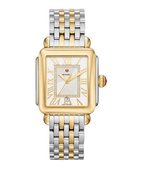 Deco Madison Two-Tone Watch Head with Diamonds