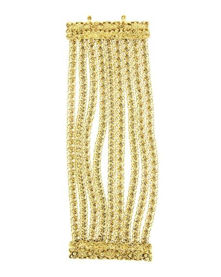 Golden Multi-Row Chain Bracelet