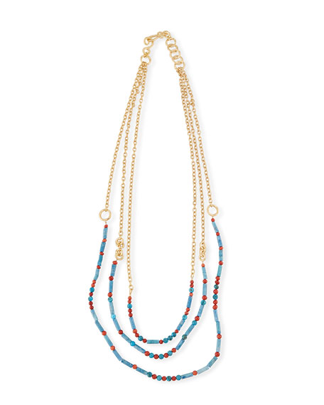Free Form Beaded Necklace