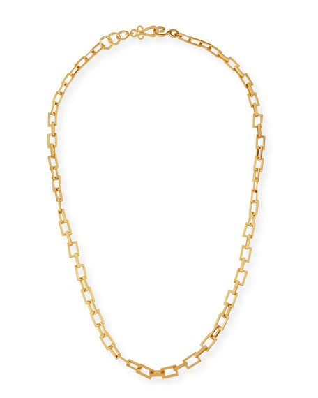 Spear 24K Gold-Plated Chain Necklace, 36""