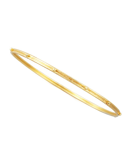 Granulated 18k Gold Bangle