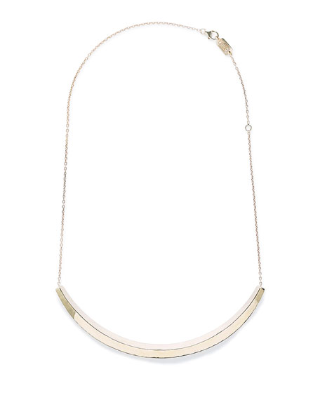 18K Classico Curved Bar Necklace