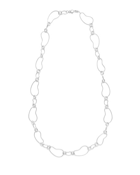 925 Classico Alternating Kidney Link Necklace