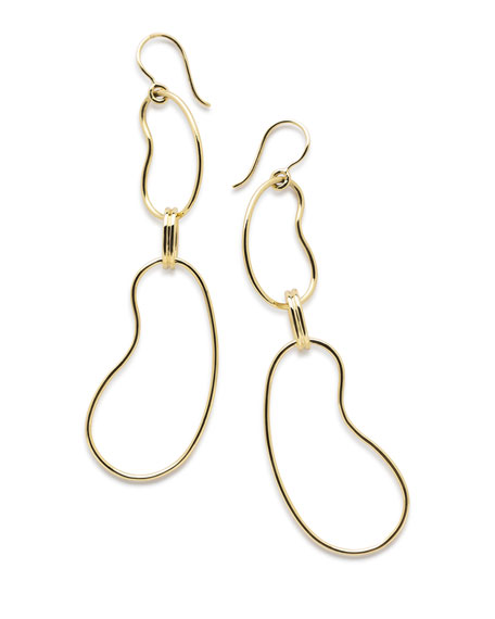 Ippolita 18K Classico Kidney Link Drop Earrings