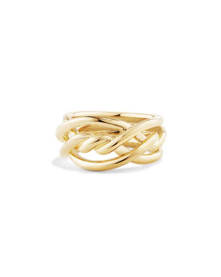 11.5mm Continuance 18K Gold Ring, Size 7