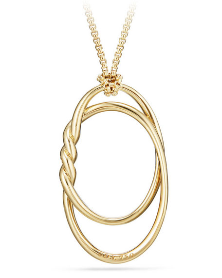 47mm Continuance 18K Gold Pendant Necklace with Diamonds