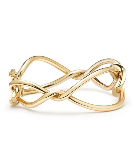 Continuance Bold Twisted 18K Yellow Gold Bracelet