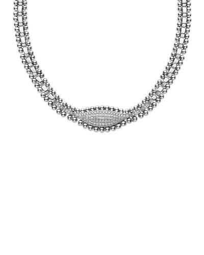 Caviar Spark Diamond Marquis Necklace