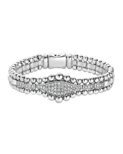 Caviar Spark Diamond Marquise Tennis Bracelet