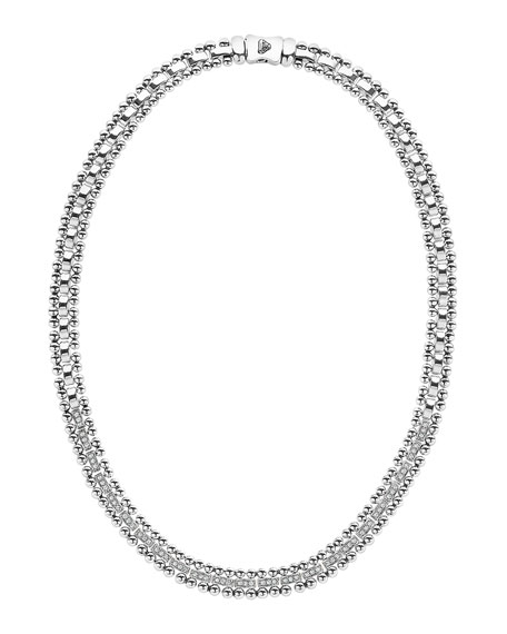 Caviar Spark Diamond Collar Necklace, 18""