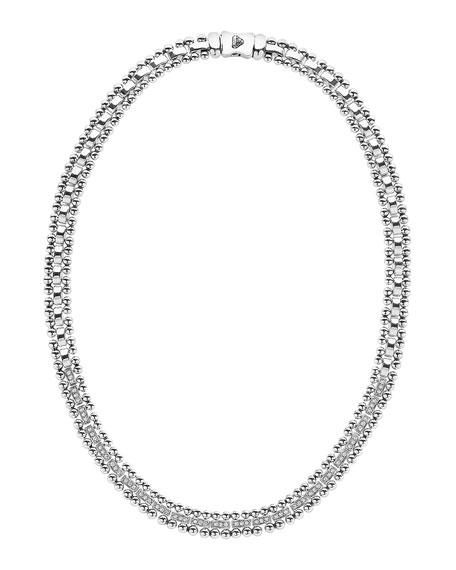 """Caviar Spark Diamond Collar Necklace, 18"""""""