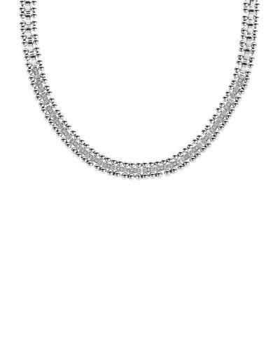 Caviar Spark Diamond Collar Necklace, 18