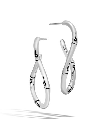 Bamboo Twisted Hoop Earrings
