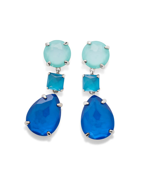 Ippolita 925 Wonderland Three-Drop Earrings in Island