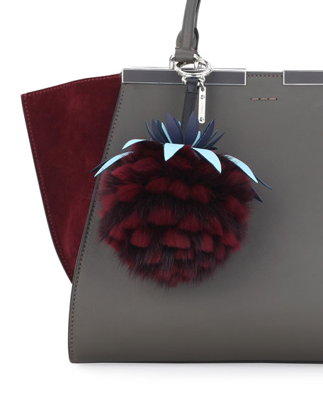 Ananas Mink Fruit Charm for Handbag