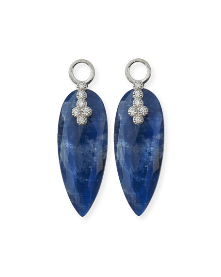 Provence 18K Teardrop Sapphire Doublet Earring Charms with Diamonds