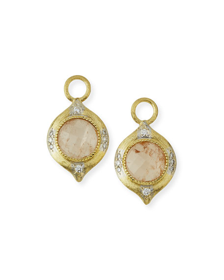 Moroccan 18K Morganite Earring Charms with Diamonds