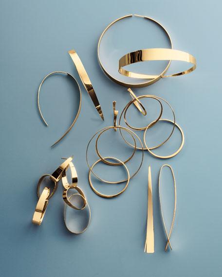 Bond Large Narrow Glam Thread-Through Hoop Earrings