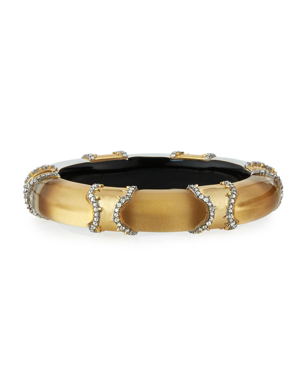 Metal Pavé Lucite Bracelet Golden