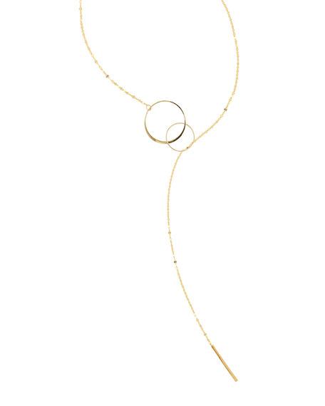 Bond Interlocking Y Lariat Necklace
