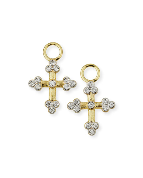 Jude Frances Provence 18K Tiny Cross Earring Charms