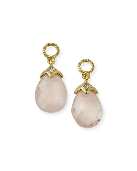 Jude Frances Lisse 18K Morganite Briolette Earring Charms