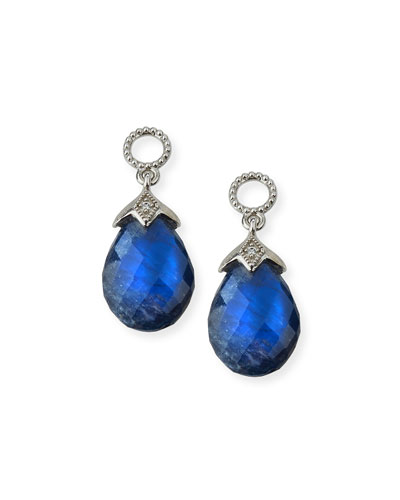 Lisse 18K Sapphire Briolette Earring Charms with Diamonds