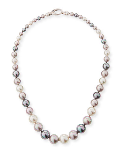 Graduated White, Gray & Nuage Pearl Necklace, 36