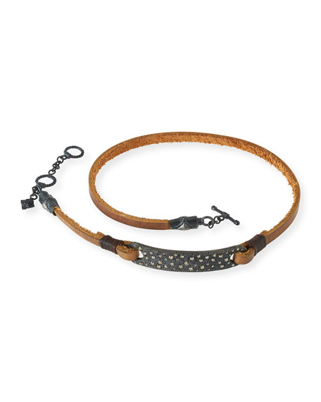 Old World Midnight Leather Wrap Bracelet