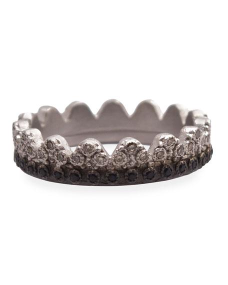 Armenta New World Petite Crown Ring with Diamonds