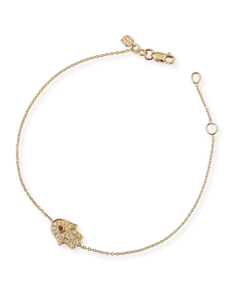 Sydney Evan 14k Gold Diamond Mini Hamsa