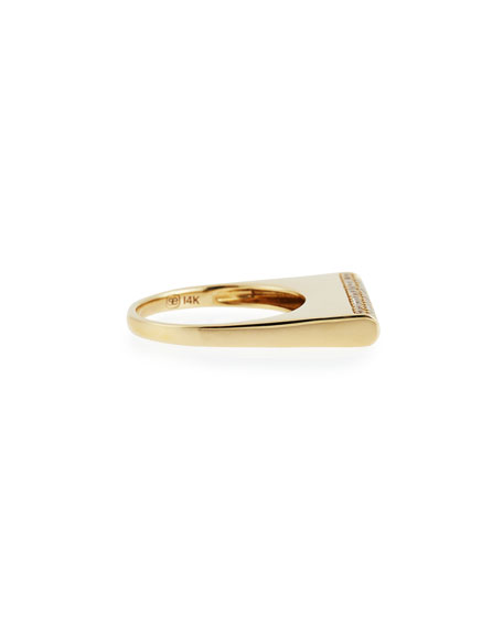 Pavé Diamond Bar Roll Ring, Size 6.5